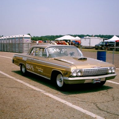 "Vern Griffith 1962 409 Impala ""Golden Rod"""