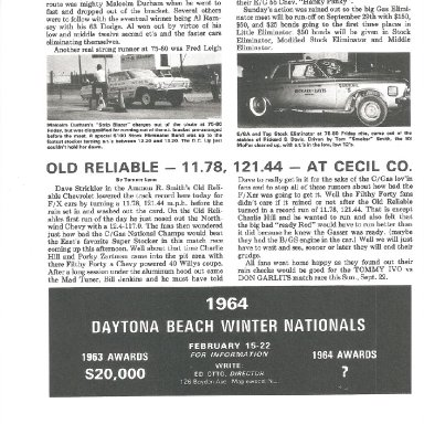 Cecil County Press. Strickler 11.28 in A/FX Chevy