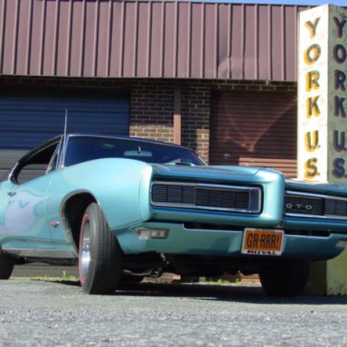 My GTO with orig. York post