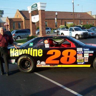 Bobby with Davey's car