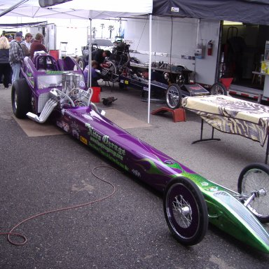 dragster abnd ricks car at fontana