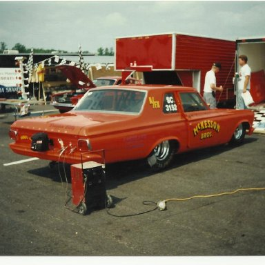 Picture of drag cars