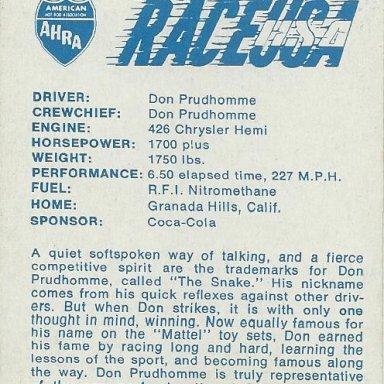 bubble gum cards      AHRA     1972 003