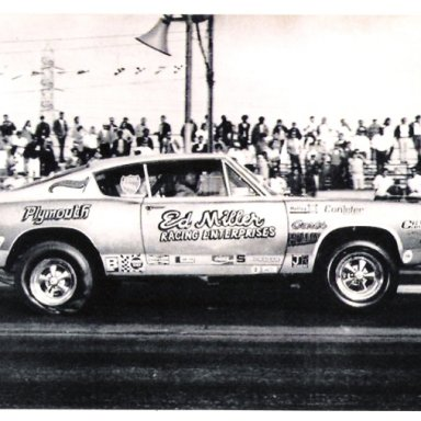ED MILLER 1968 Cuda at Lions1970