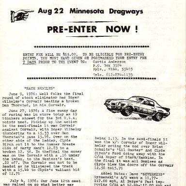 USA Elim Aug 76 Races