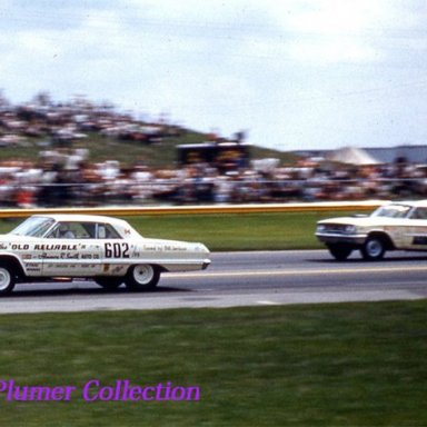 Dave Strickler and Old Reliable IV A/FX beats Dick Brannon 1963 U.S.Nationals at Indy