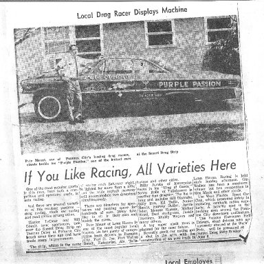 Pete's story in 1960s newspaper