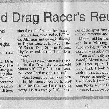 Pete's story in newspaper