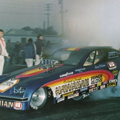 RON COLSON AT THE WHEEL OF THE HAWAIIAN MONZA @ POMONA