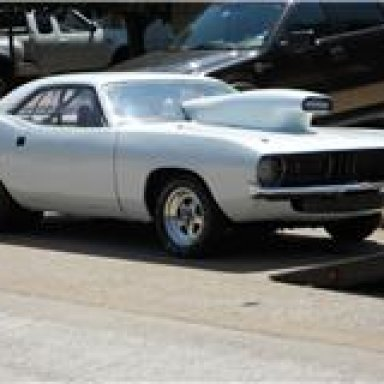 'Barn Find' Shelby Jester Cuda being loaded for tranport.