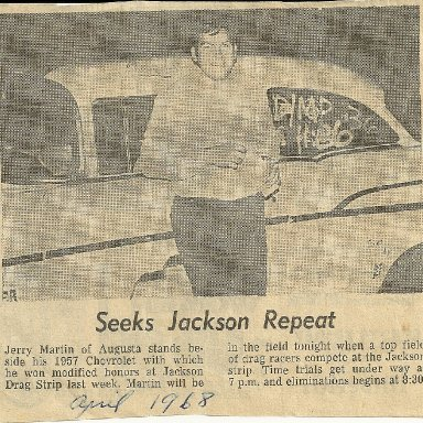 Jerry Martin in news with win at Jackson dragstrip