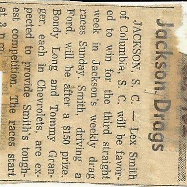 Super Socks that ran at Jackson Dragstrip and Augusta International Drag way
