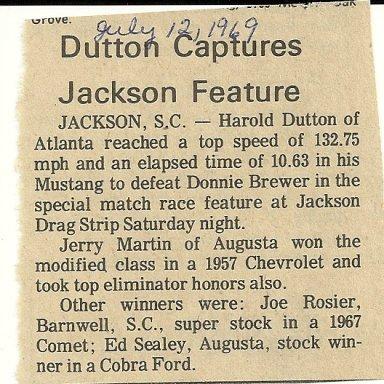 Jackson Drag Strip featured good match races