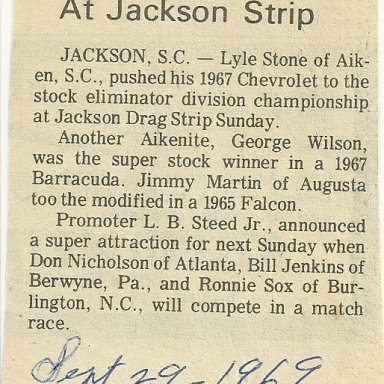 Lyle Stone, one of the best drivers Jackson ever seen