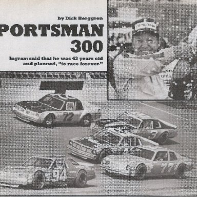 Ingram wins Daytona Sportsman 300 1980