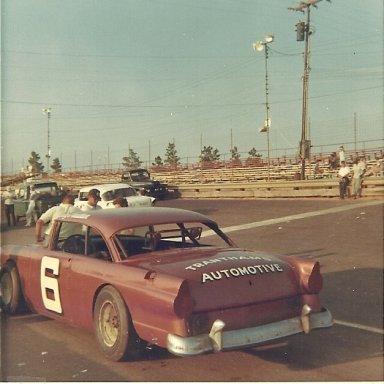 Roy Tranthem at half mile track at Augusta International Speedway