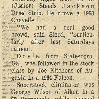 Race winners at Jackson