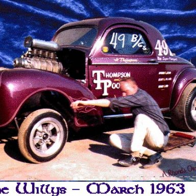 Jr. Thompson and his 41 Willys 1963