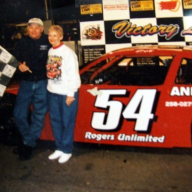 Bob and Doris Pressley on the last night he was at the Asheville Speedway