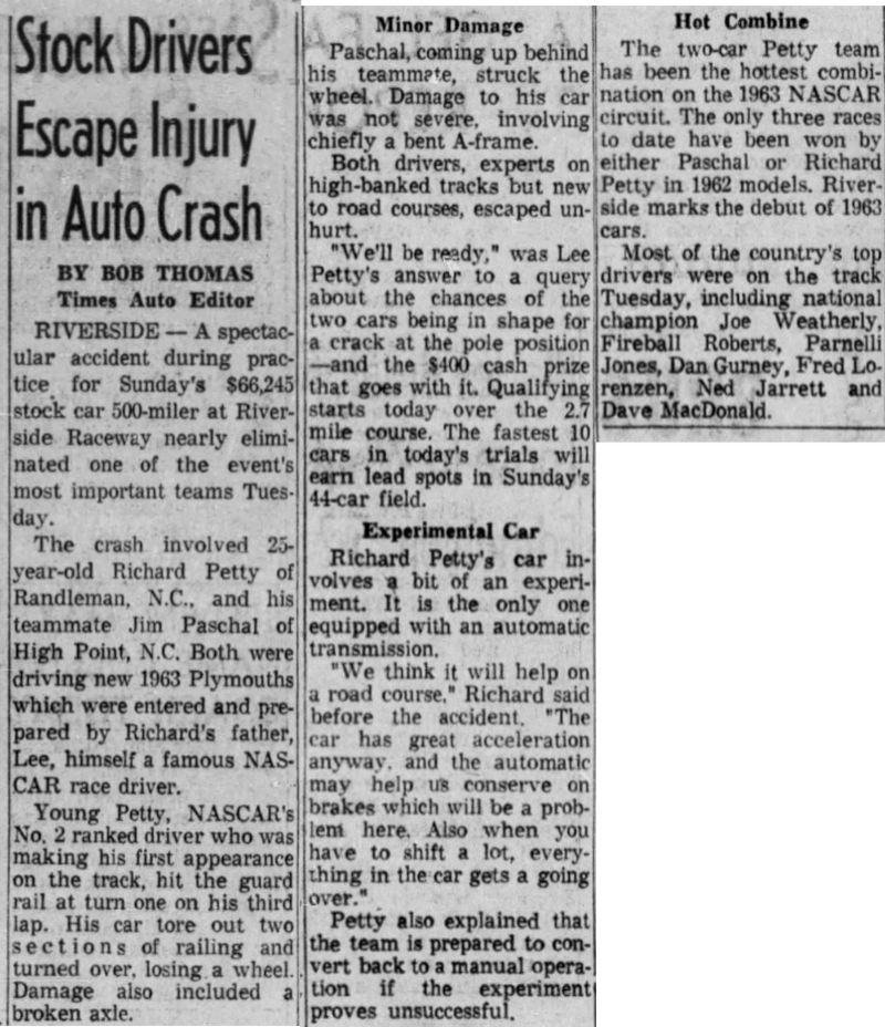 1963 Riverside Petty Paschal wreck 011663LATimes.png