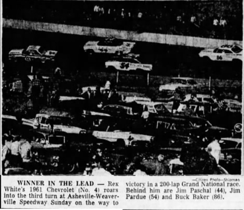 1962 Weaverville Rex White 111361AshevilleCitizenTimes.png