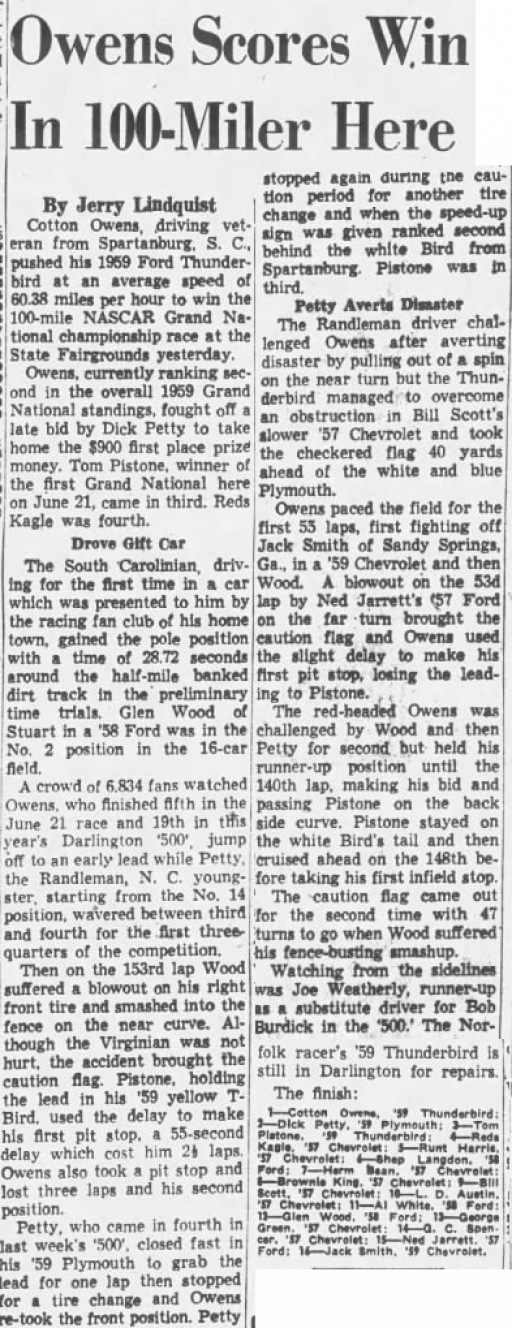 1959 Richmond Cotton 091459RichmondTimesDispatch.png