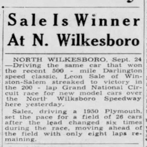 1950 Wilkesboro Leon Sale 092650 CharlotteObserver.jpg