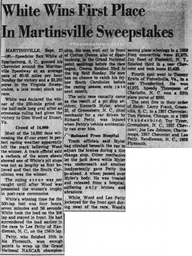 1959 Martinsville Rex White 092859RichmondTimesDispatch.png