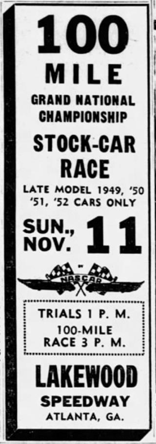 1951 Atlanta Lakewood ad 111081AtlantaConstitution.png