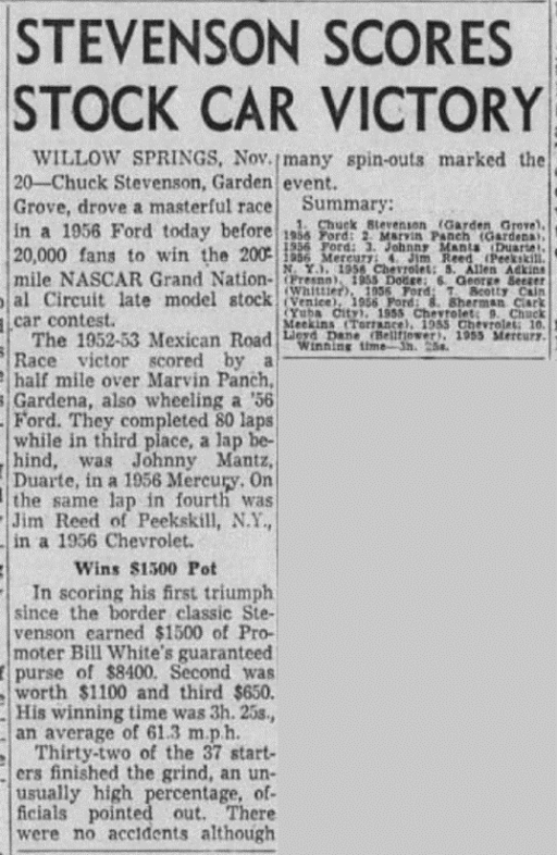 1955 Willow Springs Chuck Stevenson 112155LATimes.png